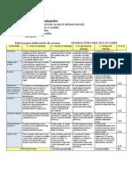 Rúbrica de evaluación ensayo OPD II