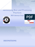 Identifying Best & Promising Practices