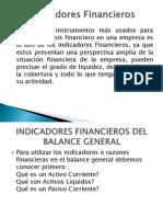 Indicadores o Razones Financier As