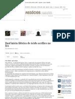 Basf inicia fábrica de ácido acrílico na BA - negocios - geral - Estadão