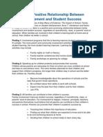 PTA Family Involvement - Student Success Report
