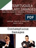 Contemptuos & Exemplary Damages