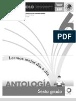 Antología Lecturas sexto grado