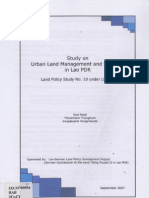 Stady on Urban Land Management and Planning in Lao PDR Under No.10