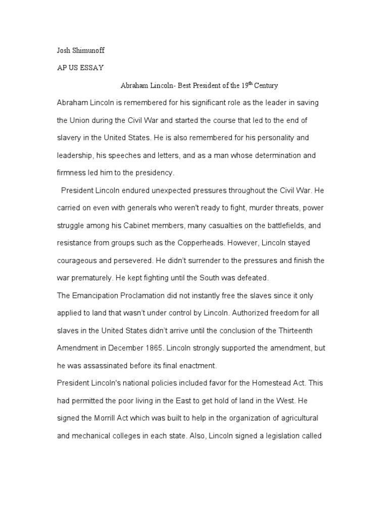 High School English Essay Topics  Good Persuasive Essay Topics For High School also How To Write An Essay For High School Ap Essay   Abraham Lincoln  American Civil War Learn English Essay Writing