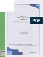 Study on Rural Land Markets in Lao PDR Land Policy Study No.8 Under LLTP II