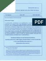 Principios Éticos de los Psicólogos y Código de Conducta. Boletín de la Sociedad Mexicana de Psicología