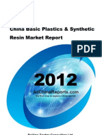 China Basic Plastics Synthetic Resin Market Report