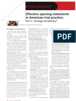 Effective Opening Statements Part 3
