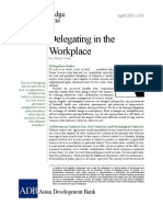 Delegating in the Workplace
