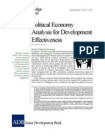Political Economy Analysis for Development Effectiveness