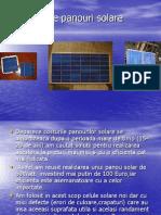 Constructie panouri solare