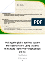 The role of systems thinking towards a more sustainable global agri-food system