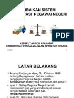 Perbaikan Sistem Remunerasi Pns