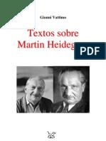 (Art) GIANNI VATTIMO Textos Sobre MArtin Heidegger