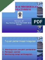 Koagulasi Dan Pemeriksaan Laboratorium