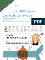 CICLO TR35 Elena Benavides