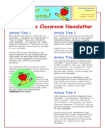 Newsletter Example