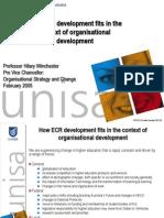 Presentation ECR Developments