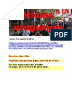 Noticias Uruguayas Viernes 9 de Marzo de 2012