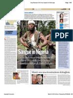 Avvenire - Sangue in Nigeria, ucciso Lamolinara, di Paolo M. Alfieri, 09/03/12