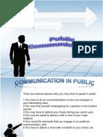 Public Communication Report