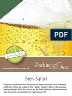 Bier-Idee des Parkhotels am Soier See 2012