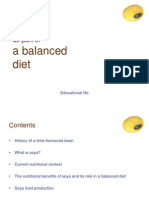 Soy as Part of a Balanced Diet En