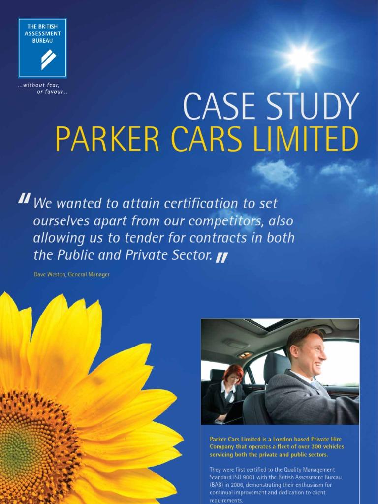 Iso case study parker cars iso 9000 audit xflitez Images