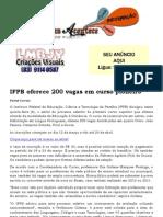 IFPB Oferece 200 Vagas Em Curso Pioneiro
