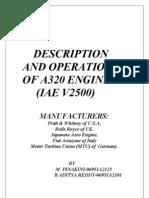 Description and Operation of a320 Engine ( Iae v2500 )