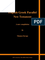 English-Greek Parallel New Testament