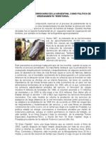 El transporte ferroviario en la Argentina, como política de Ordenamiento Territorial