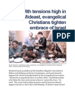 With Tensions High in Mideast, Evangelical Christians Tighten Embrace of Israel