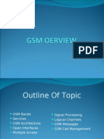 Gsm Oerview