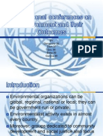 International Conferences on Environment and Their Outcomes