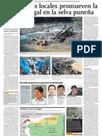 Minería Ilegal en Puno está afectando la destrucción de la Selva, Bosques, Aves, Ecología y Medioambiente