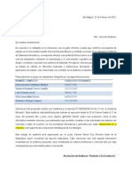 Modelo de Carta de Inicio de Auditoria