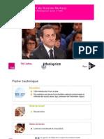 Interventions TV de N. Sarkozy / Image comparée Le Pen Mélenchon