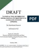 29939084 CREW National Aeronautics and Space Administration DRAFT NPOESS de Manifested Sensors Information Kit