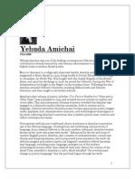 Yehuda Amichai - Selected Poetry