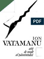 Ion Vatamanu - Atât de mult al pământului (1990)