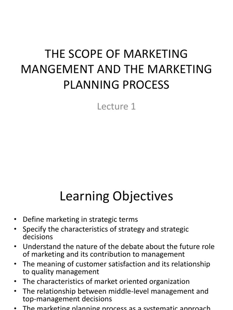 Lecture 1 Strategic Management Business Process