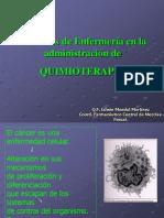 2-Enfermeria en La Admin is Trac Ion de QUIMIOTERAPIA