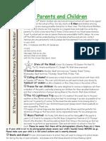 Newsletter 9th Mar