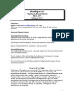 Adolscnt Dev:Ed/Psy Perspec - EDSC 207 Z1 - Course Syllabus