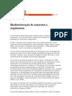 Biodeterioração de concretos e argamassas