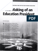 The Making of the Education President