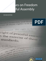 Guidelines on Freedom of Peaceful Assembly