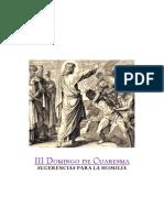 Homilia III Domingo de Cuaresma